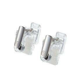 エレコム ELECOM スマホ用ゲームアクセサリ フィンガーボタン 分離型 2ボタン スマホクリーナー付 クリア P-GMFS2B01CR