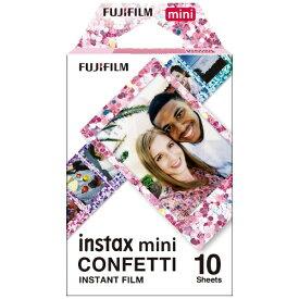 富士フイルム FUJIFILM チェキ インスタントフィルム カラー instax mini CONFETTI [10枚 /1パック]
