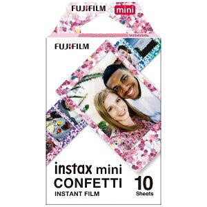 富士フイルム FUJIFILM チェキ インスタントフィルム カラー instax mini CONFETTI(コンフェッティ) [10枚 /1パック]