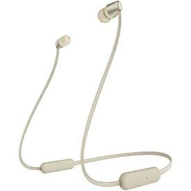 ソニー SONY ブルートゥースイヤホン ゴールド WI-C310 NC [リモコン・マイク対応 /ネックバンド /Bluetooth][ワイヤレスイヤホン WIC310NC]
