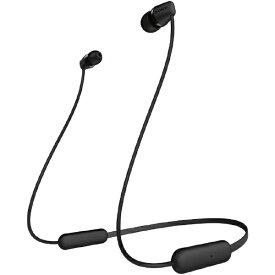 ソニー SONY ブルートゥースイヤホン ブラック WI-C200 BC [リモコン・マイク対応 /ネックバンド /Bluetooth][ワイヤレスイヤホン WIC200BC]