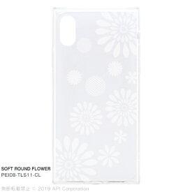 アピロス apeiros EYLE TILE SOFT ROUND FLOWER for iPhone XS/X