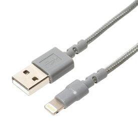 ミヨシ MIYOSHI [ライトニング]USBケーブル 充電・転送 2.4A (1m・グレー)MFi認証 SLC-T10/GY