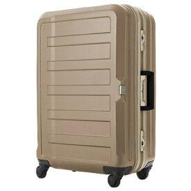 レジェンドウォーカー LEGEND WALKER TSAロック搭載スーツケース(47L) 三層構造PC100%シボ加工ボディ フレームキャリー シャンパンゴールド 5088-60-CGD 【61L(5〜7泊) 4.4kg】 5088-60-CGD シャンパンゴールド [(約)61L]