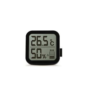TAGlabel by amadana タグレーベル バイ アマダナ 【ビックカメラグループオリジナル】AT-TH11BK 温湿度計 TAG label by amadana ブラック[ATTH11BK][湿度計 温度計 デジタル おしゃれ 壁掛け]