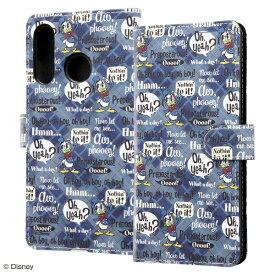 イングレム Ingrem HUAWEI P30 lite/HUAWEI P30 lite Premium / 『ディズニーキャラクター』/手帳型アートケース マグネット IN-DHP30LMLC2/DD001 ドナルド_001