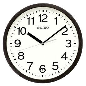 セイコー SEIKO 掛け時計 【スタンダード】 黒茶木地 KX249K [電波自動受信機能有]