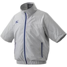 ミズノ メンズ エアリージャケット半袖 (2XLサイズ/ベイパーシルバー) C2JE9102【ファン・バッテリー別売り】