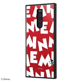 イングレム Ingrem Xperia 1 /『ディズニーキャラクター』/耐衝撃ケース KAKU トリプルハイブリッド IQ-DXP1K3B/MN006 『ミニーマウス/I AM』