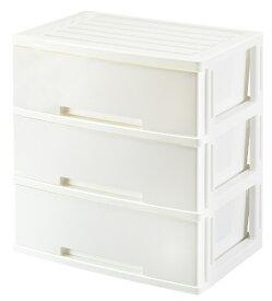 グリーンパル GREENPAL ニューライフ ワイド 衣類収納ケース インテリアチェスト (3段 ホワイト)