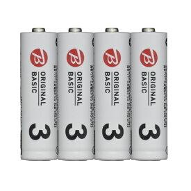 ORIGINAL BASIC オリジナルベーシック 【ビックカメラグループオリジナル】LR6BKOS-4P 単3電池 シュリンクパック [4本 /アルカリ]
