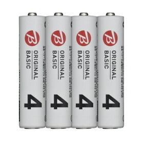 ORIGINAL BASIC オリジナルベーシック 【ビックカメラグループオリジナル】LR03BKOS-4P 単4電池 シュリンクパック [4本 /アルカリ]