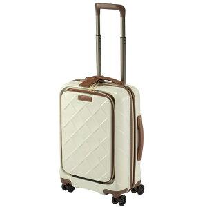 STRATIC ストラティック スーツケース 33L レザー&モア ミルク 3-9976-55-MK [TSAロック搭載]
