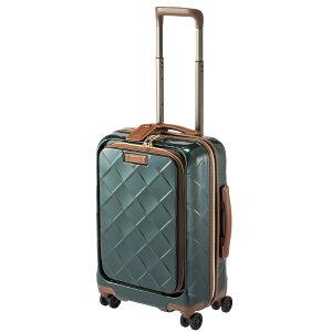 STRATIC ストラティック スーツケース 33L レザー&モア ダークグリーン 3-9976-55-DGR [TSAロック搭載]