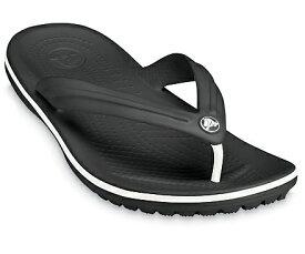 クロックス Crocs 28.0cm 男女兼用 サンダル Crocband Flip(M10W12:Black) 11033