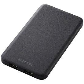 エレコム ELECOM DE-M09-5000BK モバイルバッテリー ブラック [5000mAh /2ポート /充電タイプ]