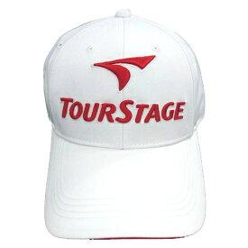 ブリヂストン BRIDGESTONE メンズ ゴルフキャップ TOURSTAGE(ホワイト×レッド/フリーサイズ) CPT9BC WR