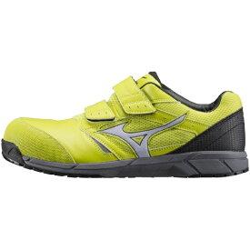 ミズノ mizuno 25.5cm 靴幅:3E メンズ 安全靴 MIZUNO WORKING ミズノ・オールマイティ LS(イエロー×ホワイト×ブラック)C1GA170145【JSAA・普通作業用(A種)認定品 耐滑 プロテクティブスニーカー】