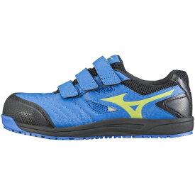 ミズノ mizuno 25.5cm 靴幅:4E メンズ 安全靴 MIZUNO WORKING ミズノ・オールマイティ FF(ブルー×イエロー×ブラック)C1GA180127【JSAA・普通作業用(A種)耐滑】