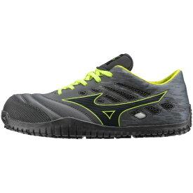 ミズノ mizuno 24.5cm 靴幅:3E メンズ 安全靴 MIZUNO WORKING オールマイティ TD11L(ブラックー×ダークグレー×イエロー)F1GA190009【JSAA・普通作業用(A種)認定品 耐滑 プロテクティブスニーカー】