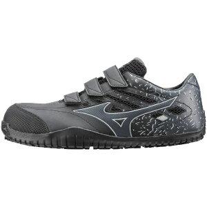 ミズノ mizuno 24.5cm 靴幅:3E メンズ 安全靴 MIZUNO WORKING オールマイティ TD22L(ブラックー×ダークグレー)F1GA190109【JSAA・普通作業用(A種)認定品 耐滑 プロテクティブスニーカー】