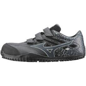 ミズノ mizuno 27.0cm 靴幅:3E メンズ 安全靴 MIZUNO WORKING オールマイティ TD22L(ブラックー×ダークグレー)F1GA190109【JSAA・普通作業用(A種)認定品 耐滑 プロテクティブスニーカー】