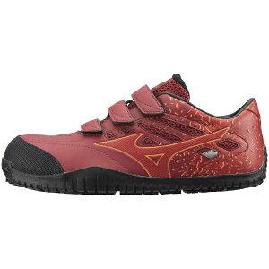 ミズノ mizuno 26.5cm 靴幅:3E メンズ 安全靴 MIZUNO WORKING オールマイティ TD22L(エンジ×レッド)F1GA190163【JSAA・普通作業用(A種)認定品 耐滑 プロテクティブスニーカー】