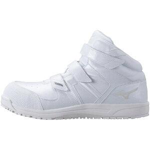 ミズノ mizuno 25.5cm 靴幅:3E メンズ 安全靴 MIZUNO WORKING オールマイティSF21M(ホワイト)F1GA190201【JSAA・普通作業用(A種)認定品 耐滑 プロテクティブスニーカー】