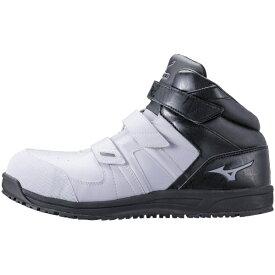 ミズノ mizuno 24.5cm 靴幅:3E メンズ 安全靴 MIZUNO WORKING オールマイティSF21M(ホワイト×グレー×ブラック)F1GA190210【JSAA・普通作業用(A種)認定品 耐滑 プロテクティブスニーカー】