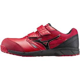 ミズノ mizuno 28.0cm 靴幅:3E メンズ 安全靴 MIZUNO WORKING ミズノ・オールマイティ LS(レッド×ブラック)C1GA170162【JSAA・普通作業用(A種)認定品 耐滑 プロテクティブスニーカー】