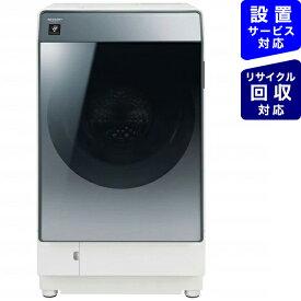 シャープ SHARP ES-W112-SR ドラム式洗濯乾燥機 シルバー系 [洗濯11.0kg /乾燥6.0kg /ヒートポンプ乾燥 /右開き][洗濯機 11kg マンション ESW112]