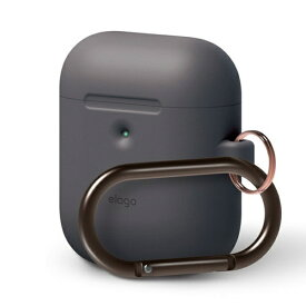 ELAGO エラゴ elago AIRPODS HANG CASE for AirPods 2nd Generation Wireless Charging Case for AirPods 2nd Wireless (Dark grey) Dark Gray EL_A2WCSSCHW_GY
