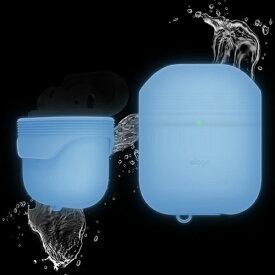 ELAGO エラゴ elago AirPods WaterProof Case for AirPods (Night Glow Blue) Night Glow Blue EL_APDCSSCWC_NG