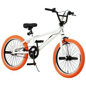 オオトモ OTOMO 20型 折りたたみ自転車 Raychell レイチェル BM-20R(ホワイト×オレンジ/シングルシフト)【組立商品につき返品不可】 【代金引換配送不可】
