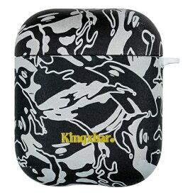 AREA エアリア KingXbar AirPods/Airpods2対応ケース カモフラージュ柄 ハードケース ストラップホール付き KingXbar ブラック KXB-BK002