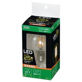 ヤザワ YAZAWA G40ボール形LED E17 L色 CL 25W形相当 LDG2LG40E17C