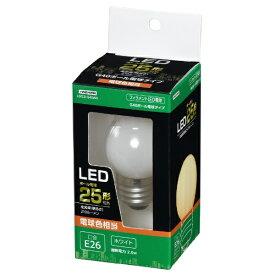 ヤザワ YAZAWA G40ボール形LED E26 L色 WH 25W形相当 LDG2LG40WH