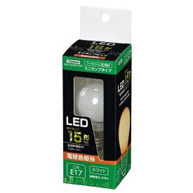 ヤザワ YAZAWA S35ミニランプ形LED L色 WH 15W形相当 LDA1LG35E17WH