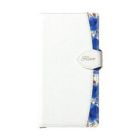 ナチュラルデザイン NATURAL design iPhone8/7/6s/6兼用手帳型ケース FLEUR White Blue iP876-FLE08