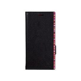 ナチュラルデザイン NATURAL design Xperia XZ2専用手帳型ケース アクセントボーダー Black x Red XZ2-ACB01