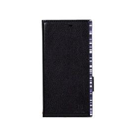 ナチュラルデザイン NATURAL design Xperia XZ2専用手帳型ケース アクセントボーダー Black x Blue XZ2-ACB02