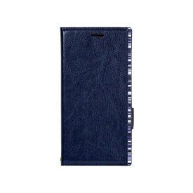 ナチュラルデザイン NATURAL design Xperia XZ2専用手帳型ケース アクセントボーダー Blue XZ2-ACB04