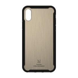 ナチュラルデザイン NATURAL design iPhoneXS/X専用衝撃吸収背面ケース HYBRID PERFORMANCE GOLD iP18_58-HYP08