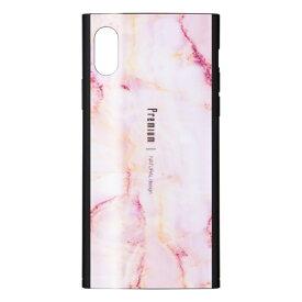 ナチュラルデザイン NATURAL design iPhoneXS/X専用背面ケース Premium Marble Pink iP18_58-PREIS04