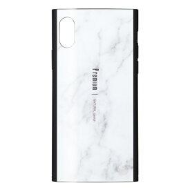 ナチュラルデザイン NATURAL design iPhoneXR専用背面ケース Premium Marble White iP18_61-PREIS01