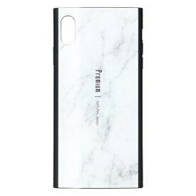 ナチュラルデザイン NATURAL design iPhoneXS Max専用背面ケース Premium Marble White iP18_65-PREIS01