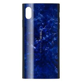 ナチュラルデザイン NATURAL design iPhoneXS Max専用背面ケース Premium Marble Navy iP18_65-PREIS03