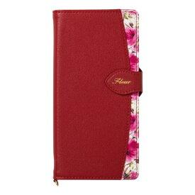 ナチュラルデザイン NATURAL design Xperia XZ3専用手帳型ケース Fleur Wine Red XZ3-FLE03