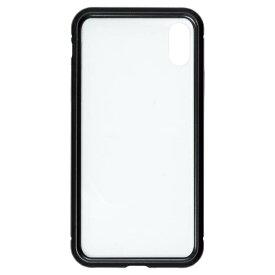 ナチュラルデザイン NATURAL design iPhoneXS/X専用背面繊維ガラス×アルミバンパーケース Black iP18_58-MBP01