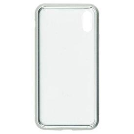 ナチュラルデザイン NATURAL design iPhoneXS/X専用背面繊維ガラス×アルミバンパーケース Silver iP18_58-MBP02